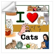 I Love Cats in ASL Wall Decal